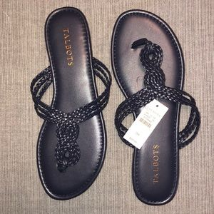 New with tags Talbots navy flip flops